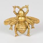 RJB Stone Golden Bee Vintage Drawer Knob