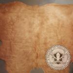 Hanlin LTD Cow Hide Tan Long Shaggy Size 1 to 1.9 meters XS