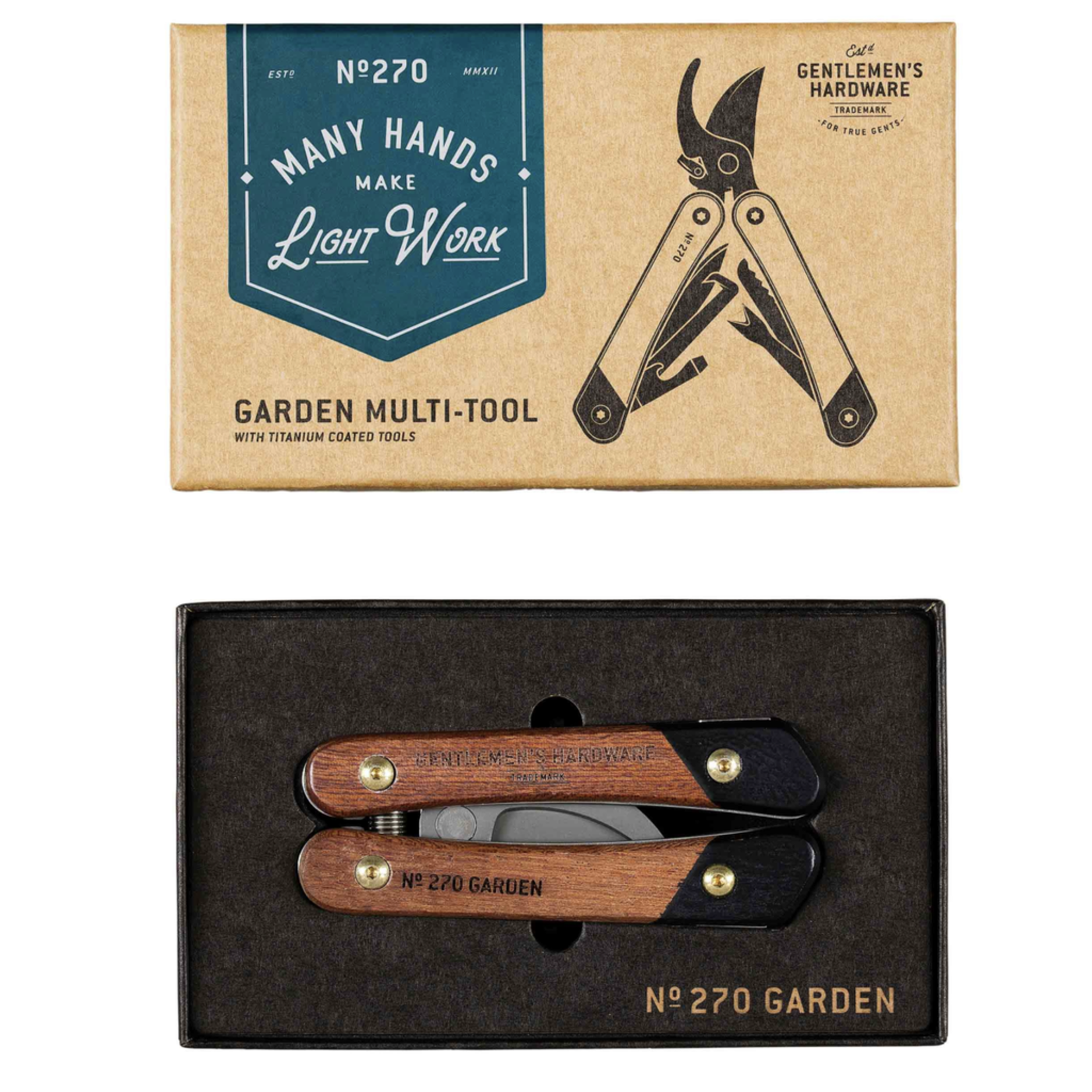 Gentlemen's Hardware Gentlemen's Hardware Garden Multi-Tool Wood Handles & Titanium Finish
