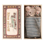 Maileg Maileg Big brother mouse in matchbox - Blue Shorts