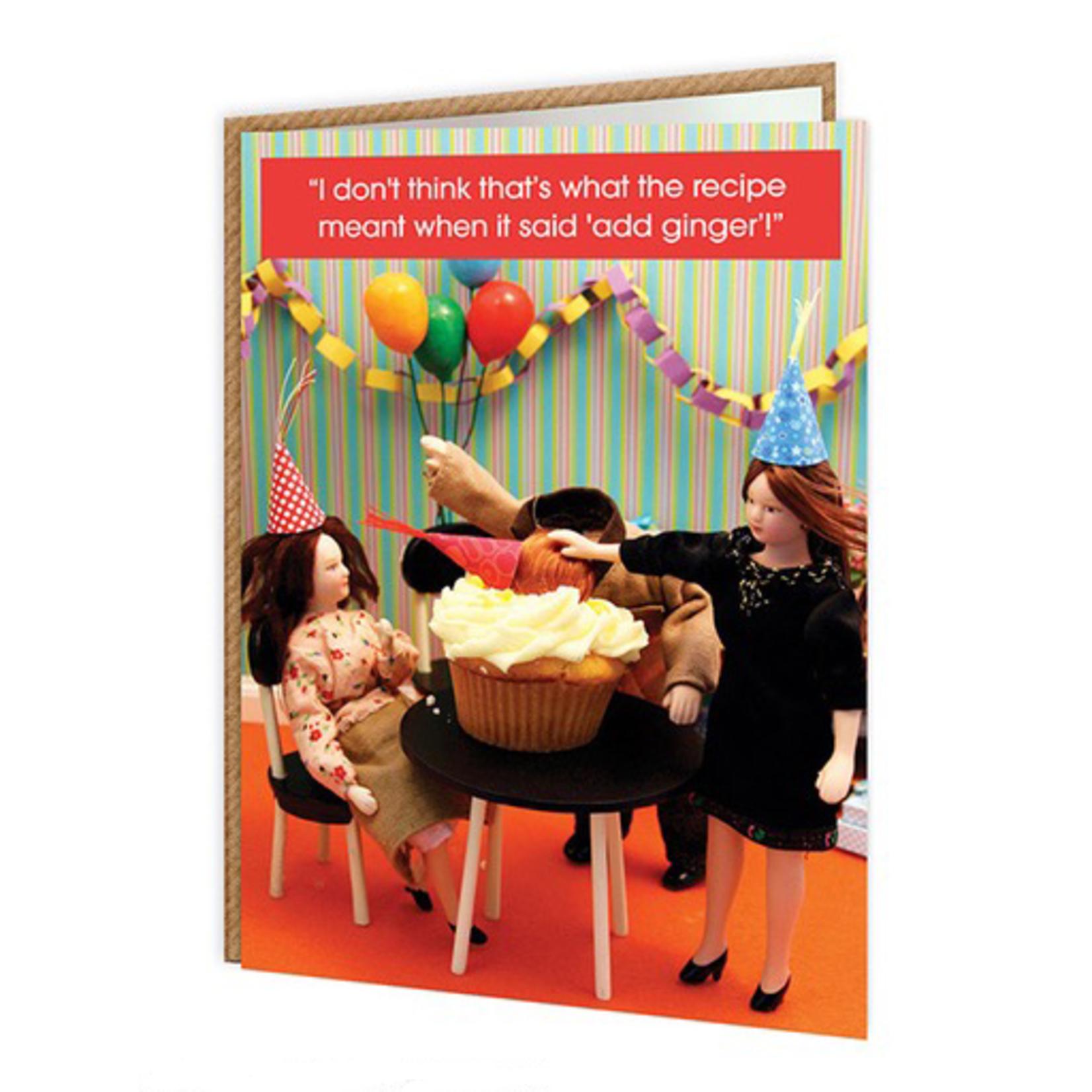 Brainbox Candy Ginger Cake Card - Add Ginger Recipe