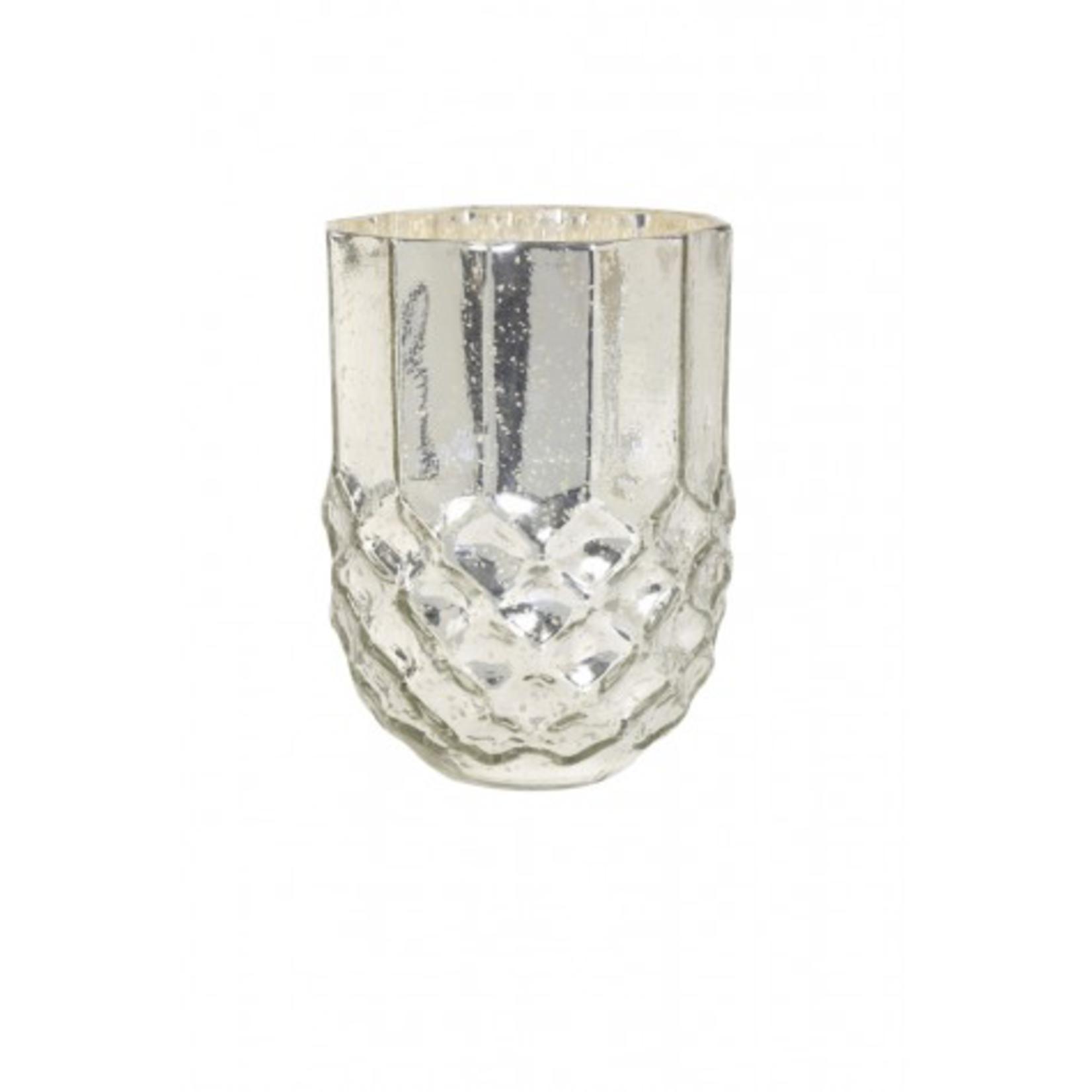 Light & Living DADU  LARGE Ant Silver Tealight Candle Holder 10 x 5 x 15cm