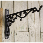 IRON RANGE Elverly Antique Iron Shelf Bracket with Hook