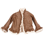 Maileg Maileg Clothes - Maxi Brown Leather Jacket