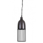Light & Living DISCOUNTED Due to to minor flaws in Finish VIEW THIS IN THE DETAIL IMAGE. Undine antique black hanging lamp 15x45cm