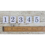 IRON RANGE Ceramic Inserts For Label Frame Coat Hook Off-White NO 5