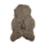 Hanlin LTD Single Icelandic Sheepskin Dyed Taupe Size: 70 - 95cm x 110 - 120cm All Hides are Natural & will Vary