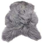 Hanlin LTD Single Icelandic Sheepskin Soft Grey Size: 70 - 95cm to 110 - 120cm  All Hides are Natural & will Vary