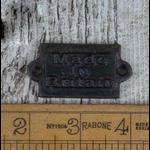 IRON RANGE Plaque 'Made In Britain' Antique Iron Finish