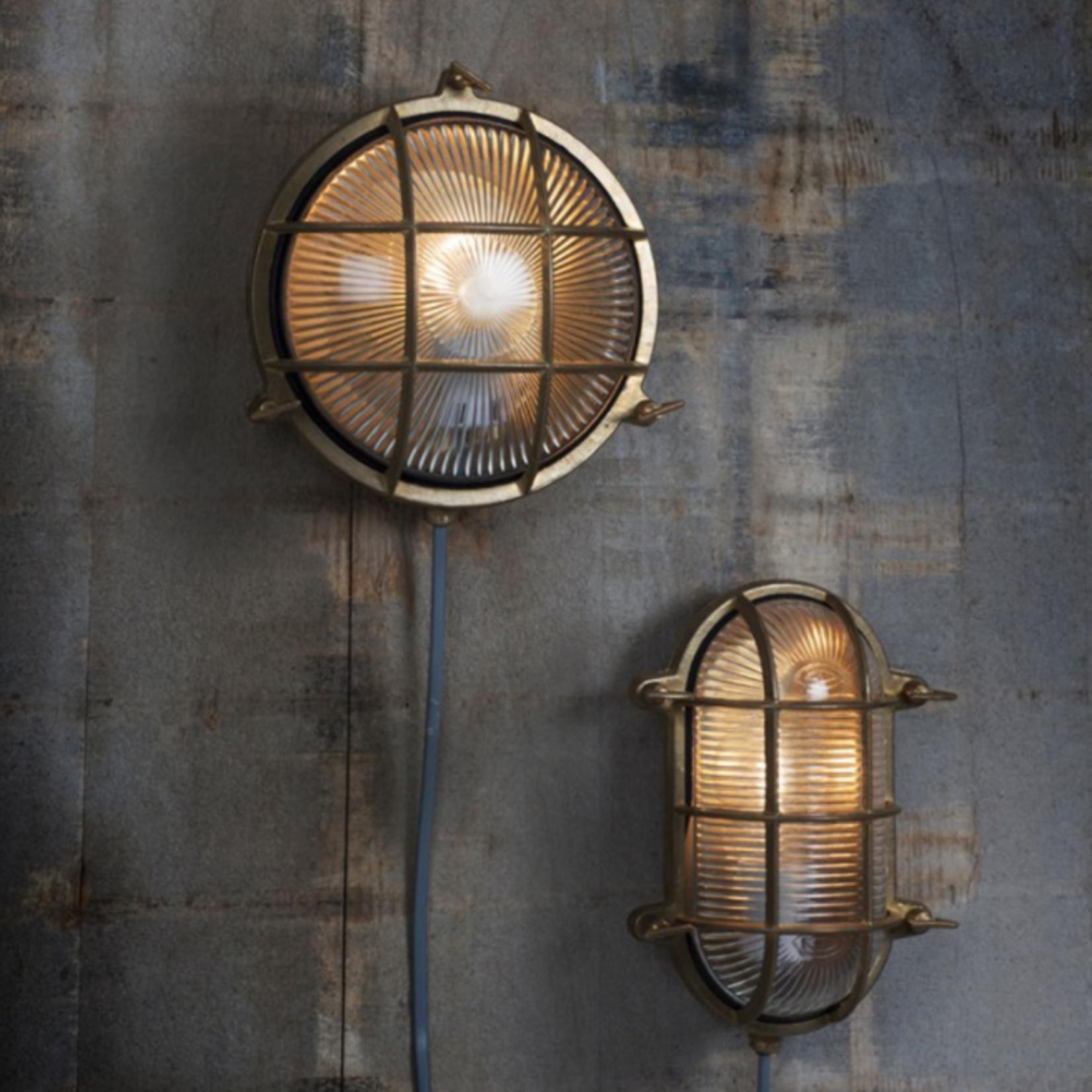 GT Devonport Bulk Head Light - Brass - Indoor and Outdoor