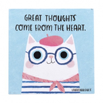 Half Moon Bay Great Thoughts Cat Coaster