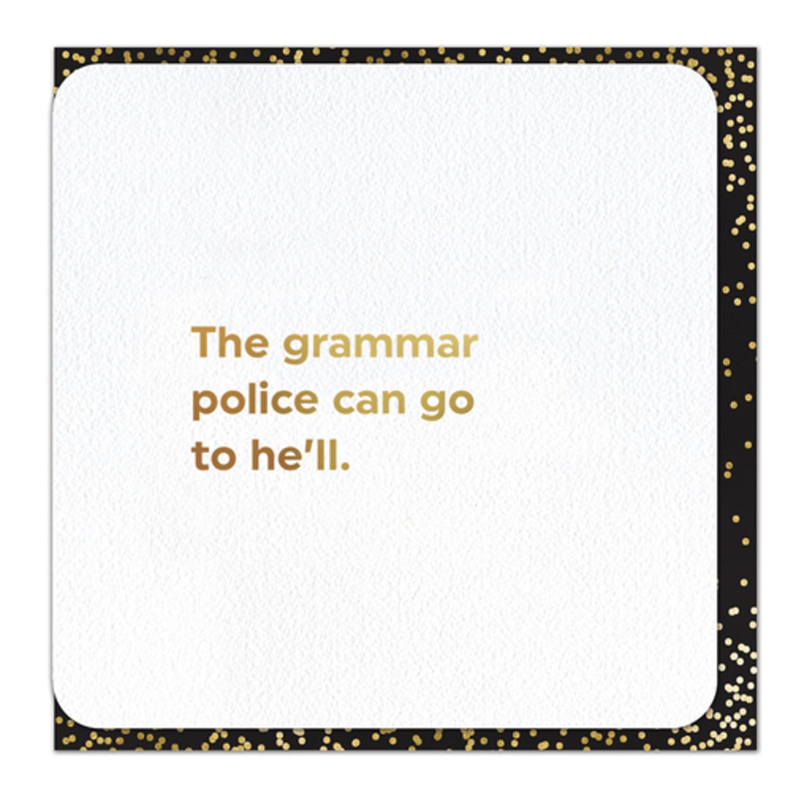 Brainbox Candy Grammar Police Card
