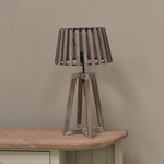 Grand Illusions Nautical Lamp with Slatted wood Shade