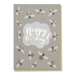 Stormy Knight Happy Bee-day Buzzy bumble bee Birthday Card