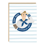 Jade Fisher Ahoy There Sailor Boy Birthday Card