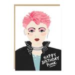 Jade Fisher Punk Birthday Card