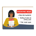 Jade Fisher News reader Awesome Card