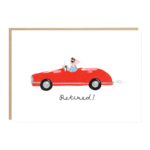 Jade Fisher Retired Red Convertible Car Card