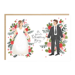 Jade Fisher On Your Wedding Day Floral Card