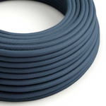 CCIT Per Metre - Round Electric 3 Core Cable covered by Cotton solid color fabric stone Grey Navy Flex