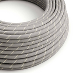 CCIT Per Metre - Round Electric 3 Core Vertigo Cable covered by Eggnog Linen and Cotton Flex