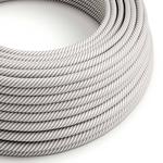 CCIT Per Metre - Round Electric 3 Core Vertigo HD Cable covered by White and Aluminium fabric flex
