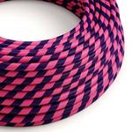 CCIT Per Metre - Round Electric 3 Core Pink & Purple sweet style spiral pattern spiraling round Vertigo Flex Cheshire