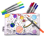 Eat Sleep Doodle The doodle pencilcase - space explorer - With Washable Pens