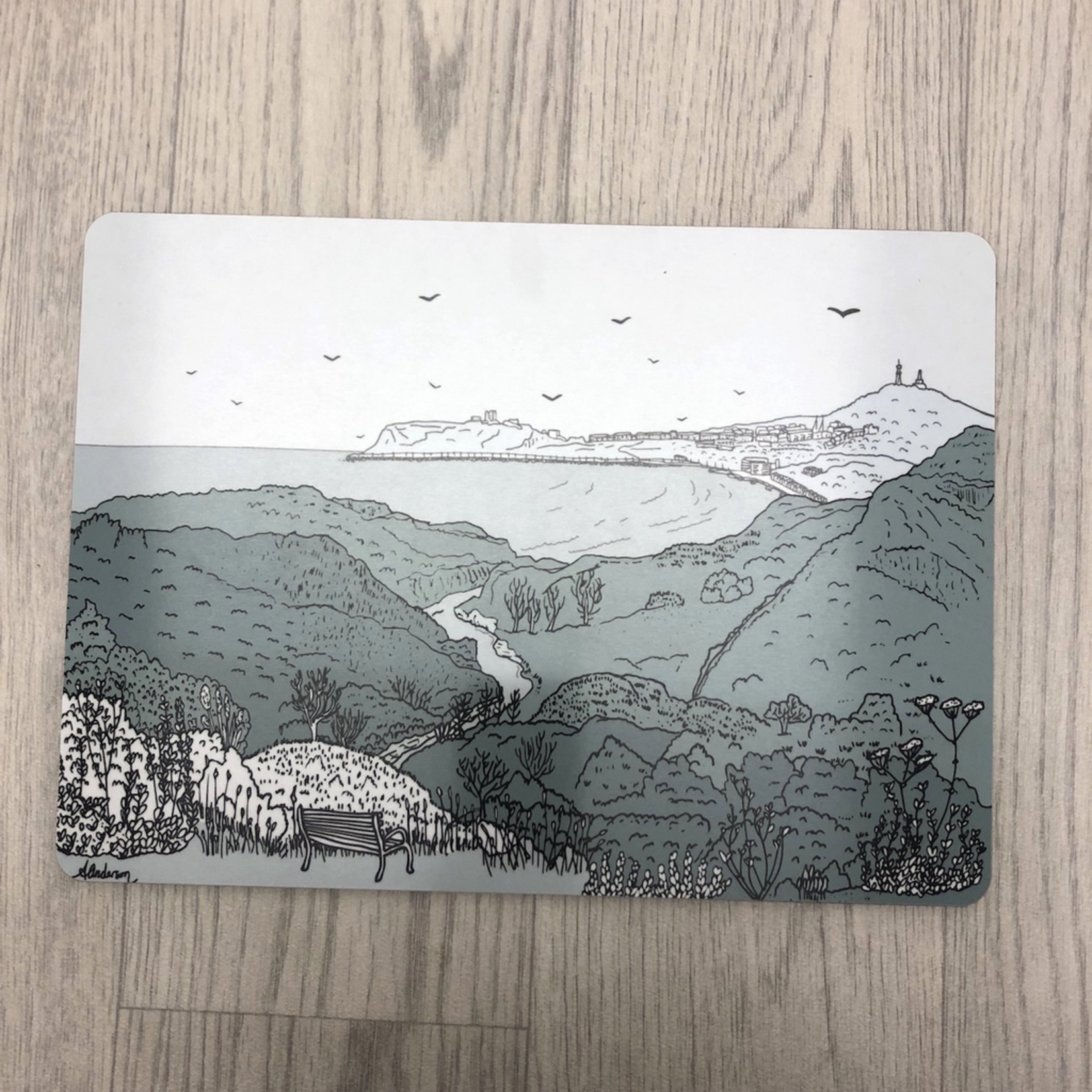 Homebird Placemat Scalby Mills - THIN Alex Anderson Scarborough Single Tableware
