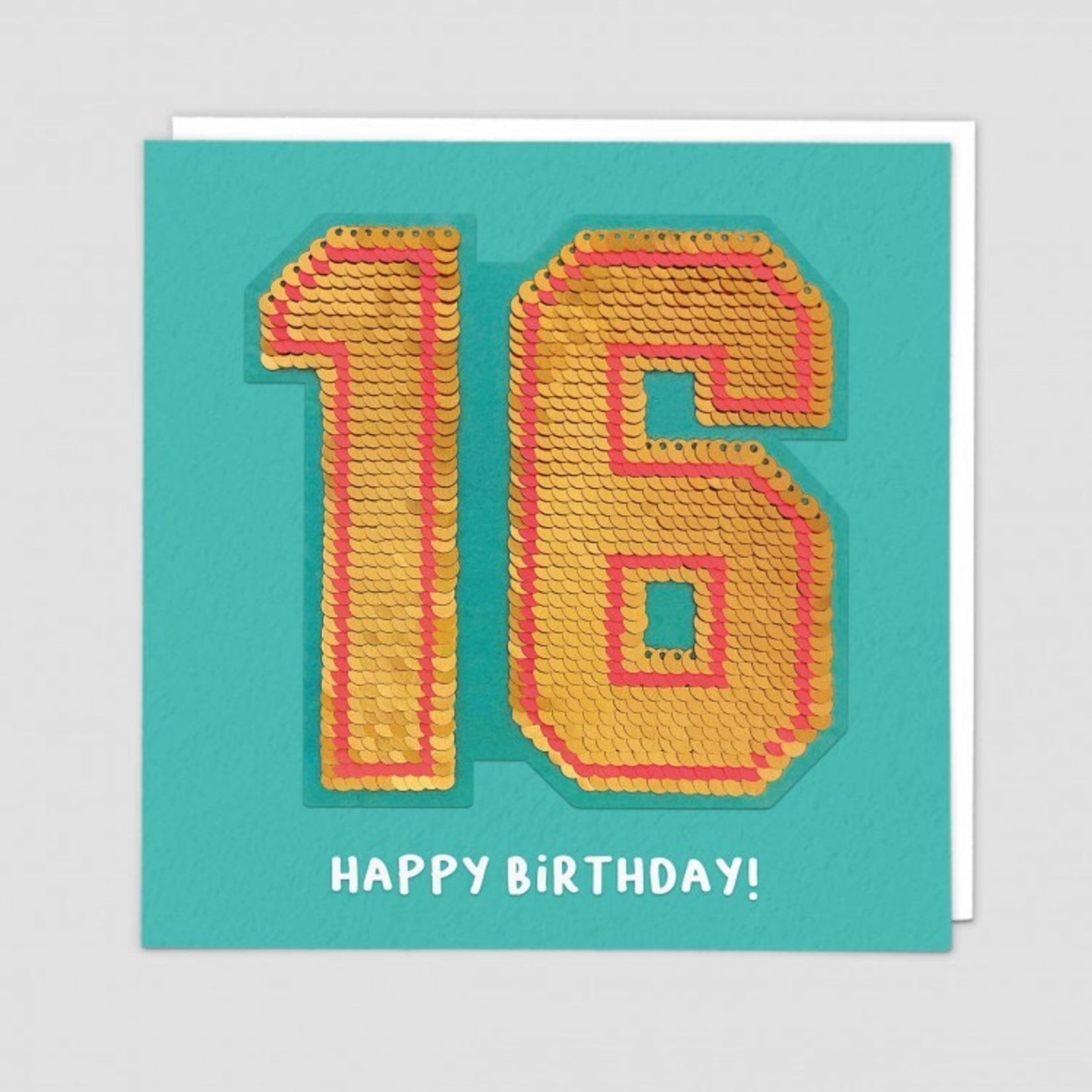 Redback Cards 16th Birthday Reversible Sequin Card