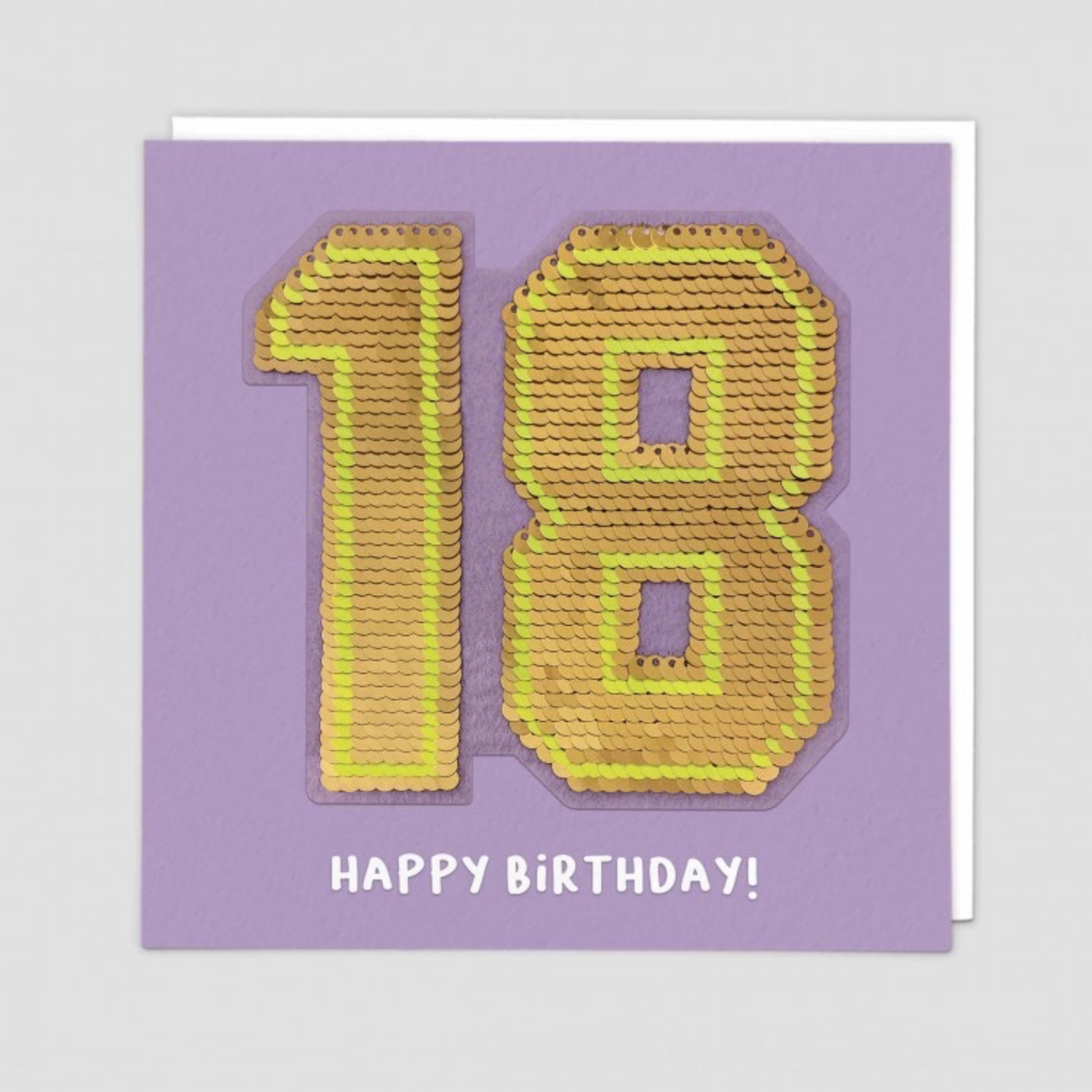 Redback Cards 18th Birthday Reversible Sequin Card