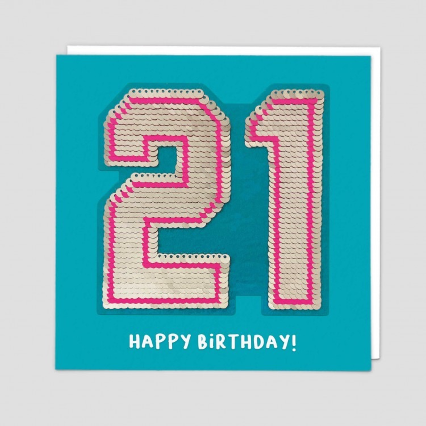 Redback Cards 21st Birthday Reversible Sequin Card