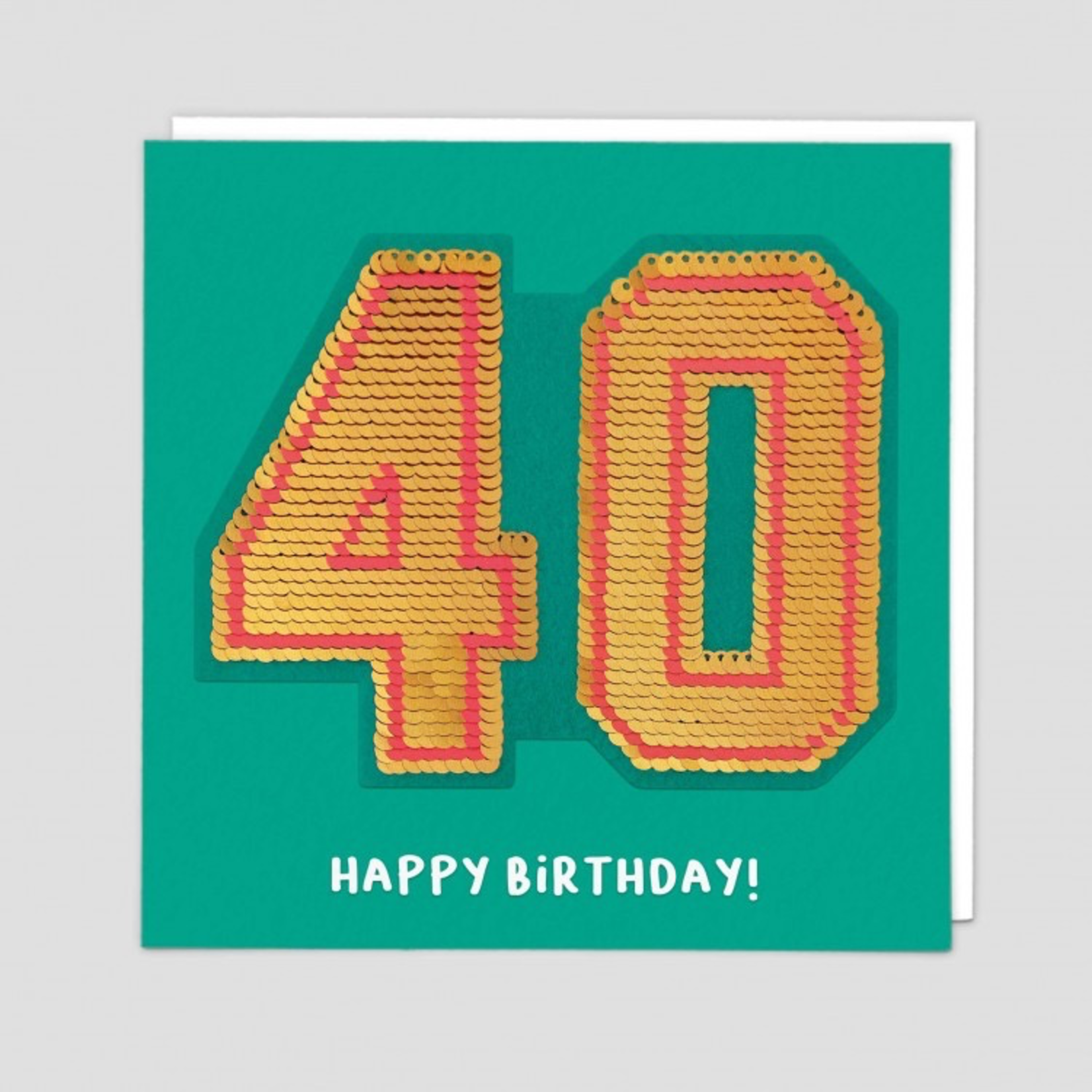 Redback Cards 40th Birthday Reversible Sequin Card