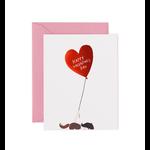 Rifle Rifle Valentine's Day Balloon Card