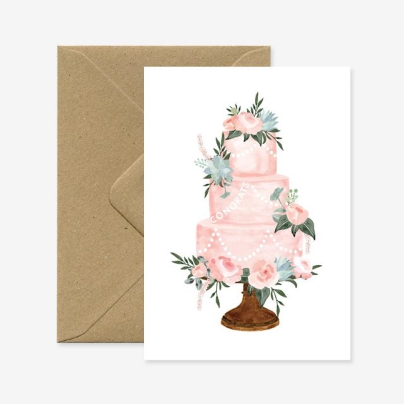 All The Ways To Say Congrats Wedding Cake Card