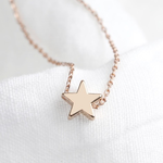 Lisa Angel Star Bead Necklace in Rose Gold