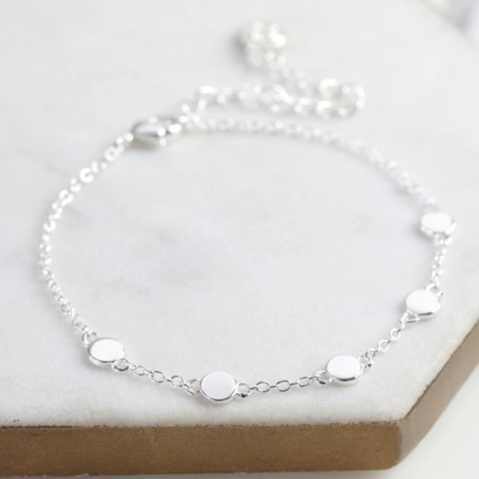 Lisa Angel Circle Charms Bracelet in Silver