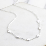 Lisa Angel Short Circle Charms Necklace in Silver