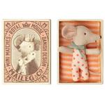 Maileg Maileg Baby Mouse Sleepy/Wakey in Matchbox - Girl NEW