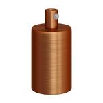 CCIT Brushed Copper Cylindrical metal E27 lamp holder kit