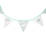 Sass and Belle Evie Unicorn Fabric Bunting
