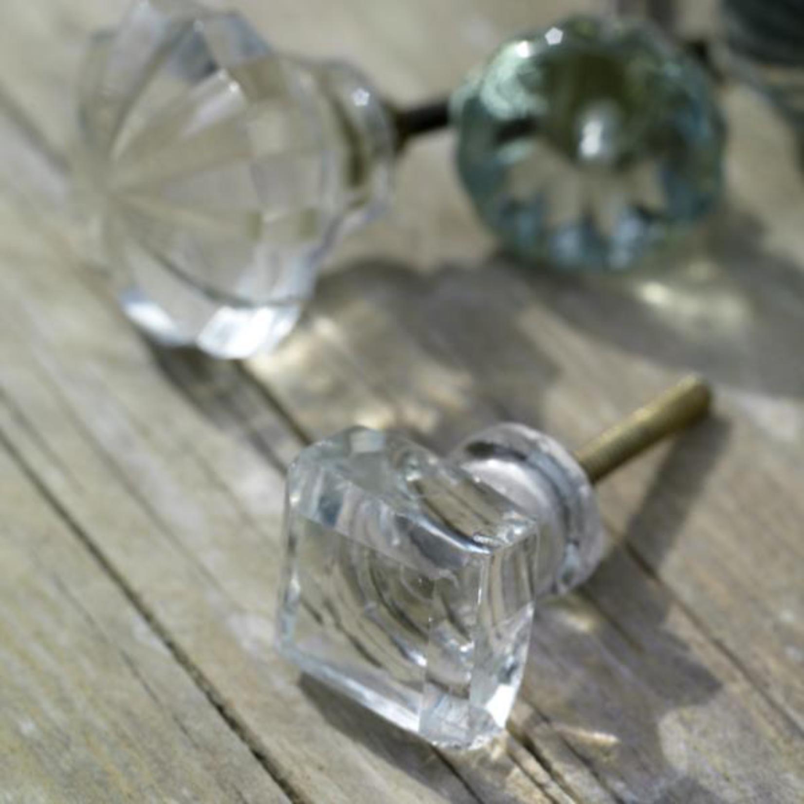 Nkuku Glass Knob - Irregular square