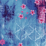 Decopatch Decoupage PAPER 492 blue and pink floral