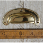 IRON RANGE Cup Handle Round Lipped Solid Brass 102mm