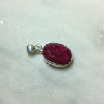 Silvex Images Small Oval Pendant - Pink