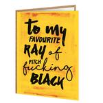 Brainbox Candy Pitch Fucking Black Birthday Card