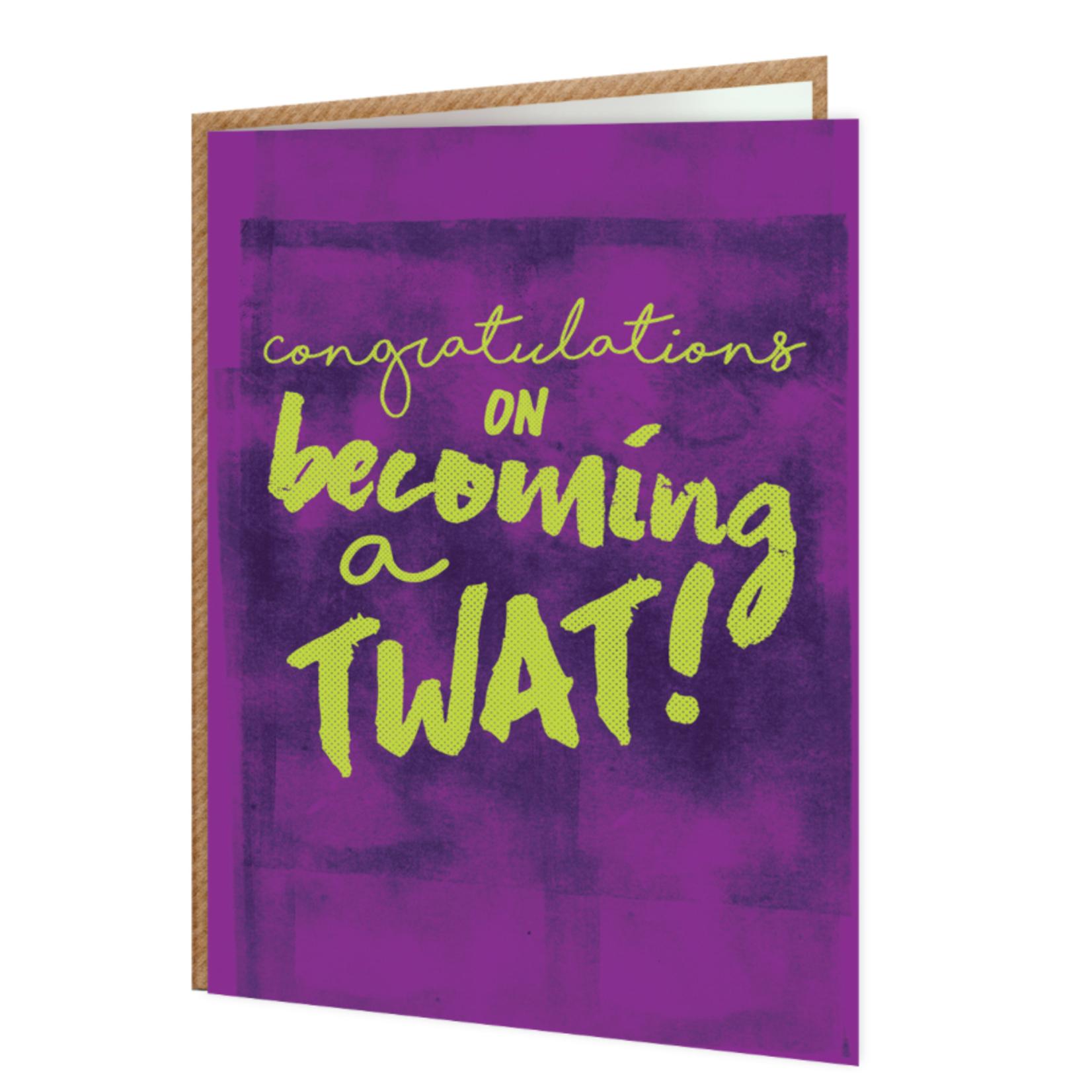 Brainbox Candy Congratulations Twat Rude Birthday Card