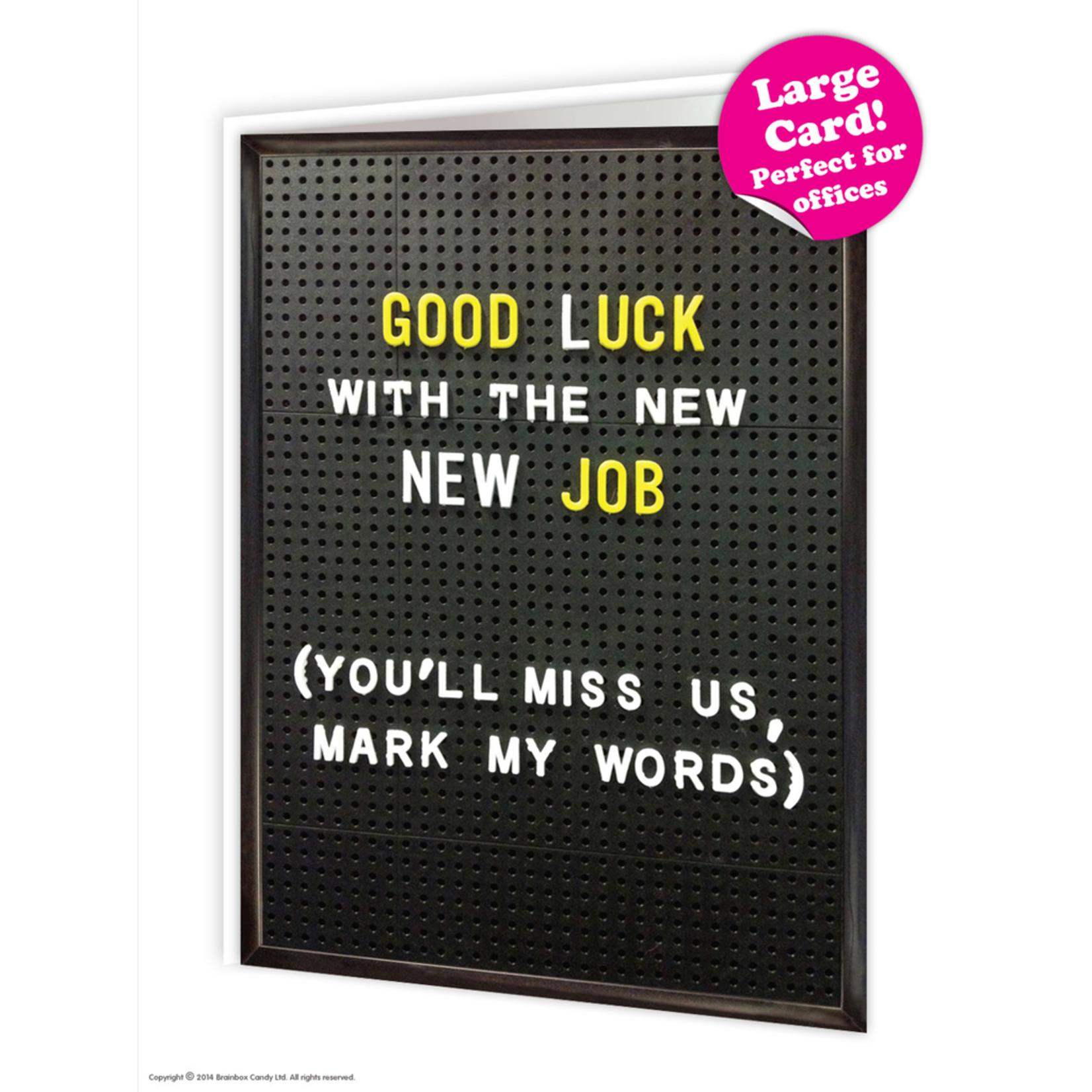 Brainbox Candy Good Luck New Job Card