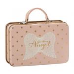 Maileg Maileg Metal Guardian Angel Suitcase, Rose, Gold stars