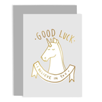 OLD ENGLISH CO. Good Luck Unicorn Card (I Believe in You)